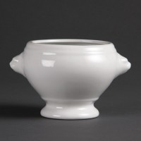 Olympia Whiteware Lion Head Soup Bowls 475ml 16.5oz (Pack of 6), Ref: W442